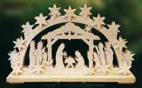 Schwibbogen kl., Geburt Christi