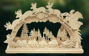 3D-Schwibbogen kl., Santa Claus