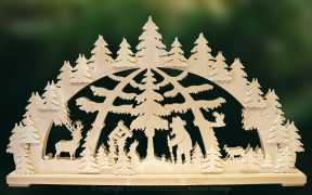 Schwibbogen gr., Waldspaziergang Größe 67 x 40 cm
